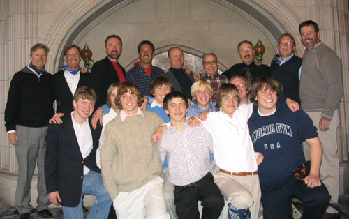 group photo boys and men Passage to manhood